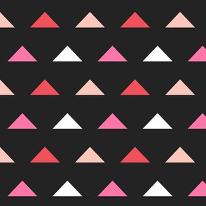 Christmas Triangles - Rudolph Red, Raspberry, Pale Pink and White by Andrea Lauren