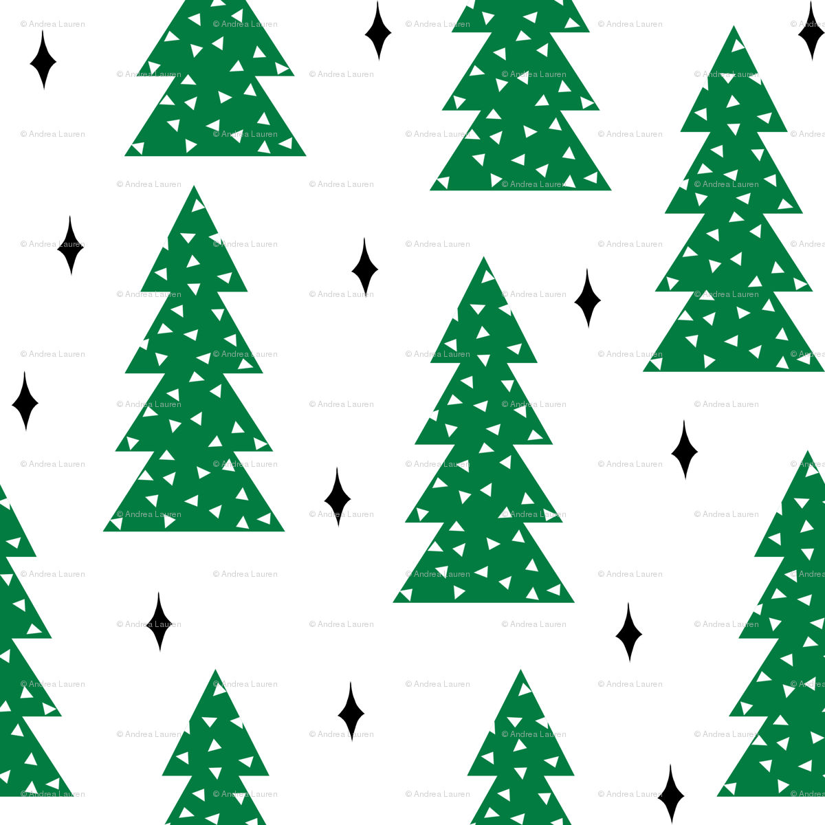 christmas trees // green christmas tree forest xmas holiday ...