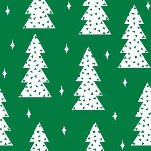 christmas tree // christmas tree green fabric cute christmas design by andrea lauren scandi winter simple christmas design
