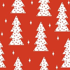tree // christmas tree holiday fabric red stars christmas tree design by andrea lauren