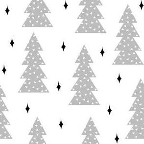 christmas tree // grey and white nursery baby cute grey scandi simple xmas christmas tree fabric