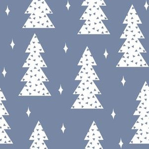 christmas trees // blue kids winter forest winter ice arctic tree scandi design andrea lauren