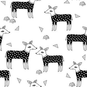 Reindeer Pajamas - black and white by Andrea Lauren