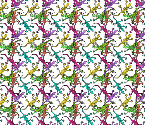 Pandemonium Gecko Scatter fabric by argenti on Spoonflower - custom fabric