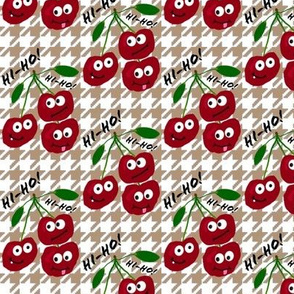 "cherries say ""hi-ho!"" -- captioned"