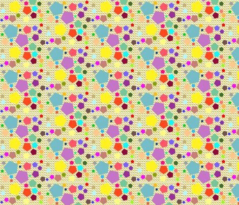 Dean's Colorful Pentagons fabric by midcoast_miscellany on Spoonflower - custom fabric