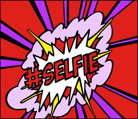 9 pop art comic words newsweek magazine covers vintage retro roy lichtenstein inspired selfie social media hashtag Instagram twitter facebook 25 april 1966 self portrait explosion fabric by raveneve on Spoonflower - custom fabric