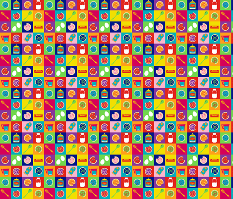 Pop Art Cookies fabric by littleknids on Spoonflower - custom fabric