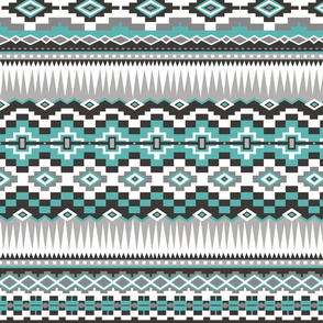 Aztec Rows in Green