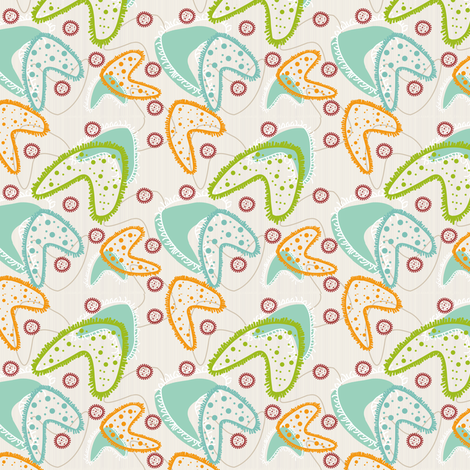 Micro-retro-organisms fabric by sharksvspenguins on Spoonflower - custom fabric
