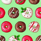 Small Christmas Donuts