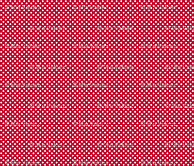 Red + Polka White Dots