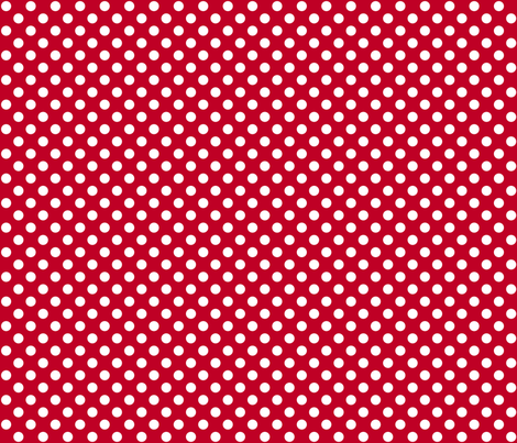 Red + Polka White Dots fabric by mia_valdez on Spoonflower - custom fabric