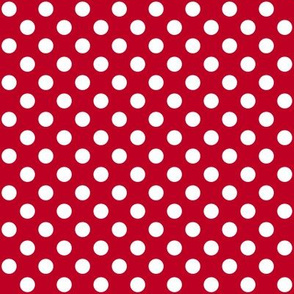 Red + Polka White Dots