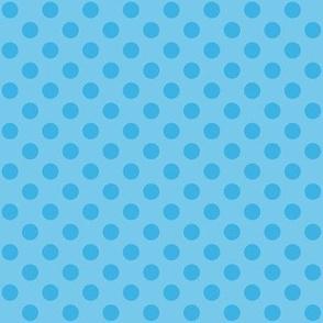 Sky Blue Polka Dots