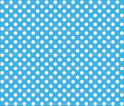 Sky Blue Polka White Dots