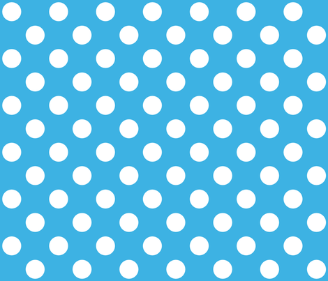 Sky Blue Polka White Dots fabric by mia_valdez on Spoonflower - custom fabric