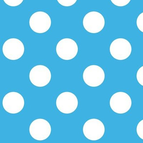 Sky Blue Polka White Dots