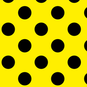 Canary Yellow  + Polka Black Dots