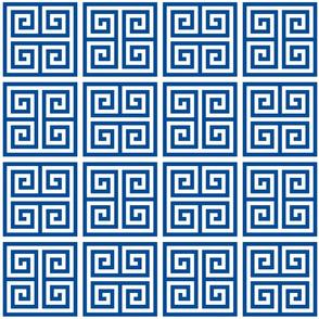 Greek key square tiles