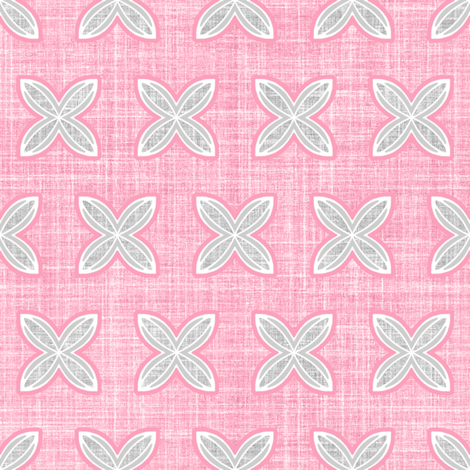 Faux linen cuatro pink fabric by joanmclemore on Spoonflower - custom fabric