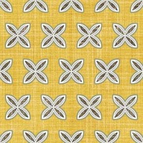 Gold faux linen cuatro