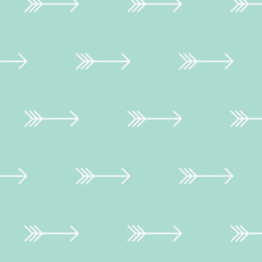 Mint Arrow // large horizontal