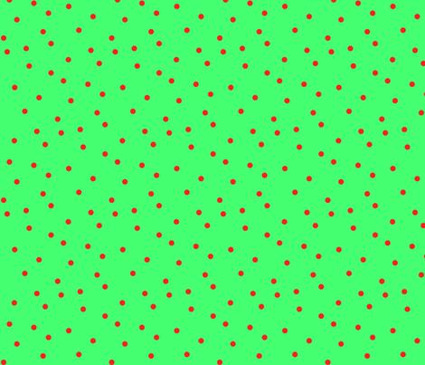 Small Scale Rowan Dots Red on Green fabric by bloomingwyldeiris on Spoonflower - custom fabric
