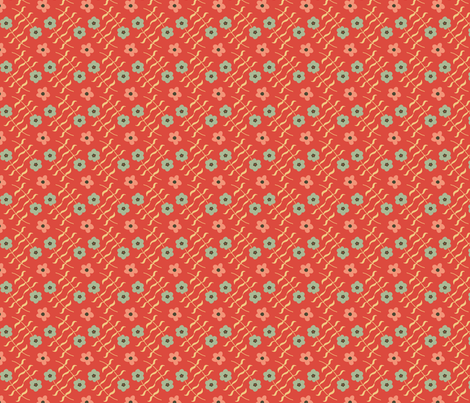 Laura Solid red fabric by lenazembrowskij on Spoonflower - custom fabric