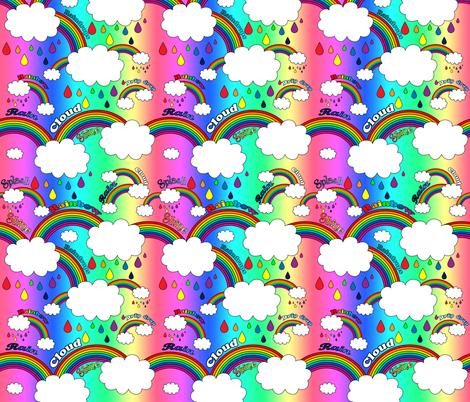 rainbow_outlines_new_with_words_rainbow_background fabric by rainingrainbows on Spoonflower - custom fabric
