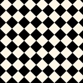 Wonderland Chessboard ~ Cosmic Latte and Black