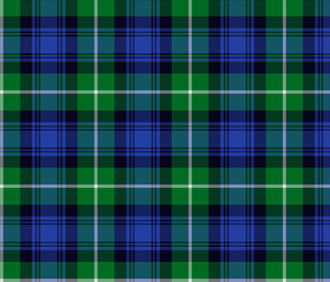 Lamont tartan - green and blue fabric by weavingmajor on Spoonflower - custom fabric