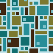 Mid-Century Squares with cutouts (teal)