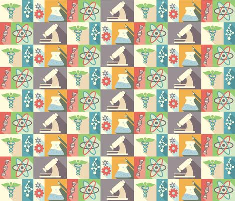 Life Science - 6in fabric by studiofibonacci on Spoonflower - custom fabric