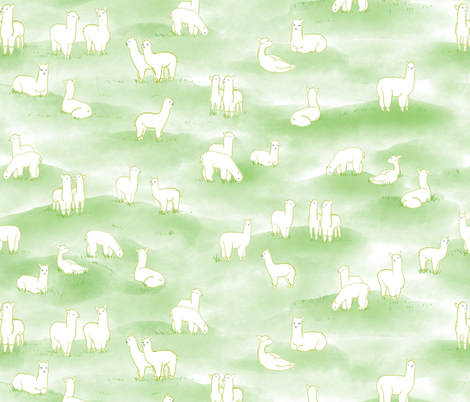 Meadow Grazing fabric by anom-aly on Spoonflower - custom fabric