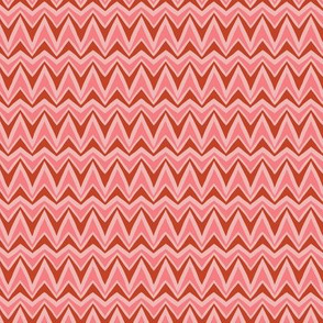 Folky Dokey-Bargello in Coral-Adventure colorway