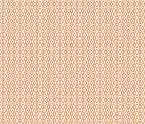 Folky Dokey-Golly Ogee in Beige-Adventure colorway fabric by groovity on Spoonflower - custom fabric