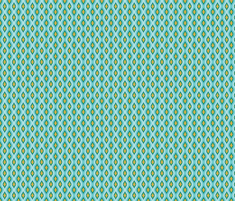 Folky Dokey-Golly Ogee in Sky-Adventure colorway fabric by groovity on Spoonflower - custom fabric
