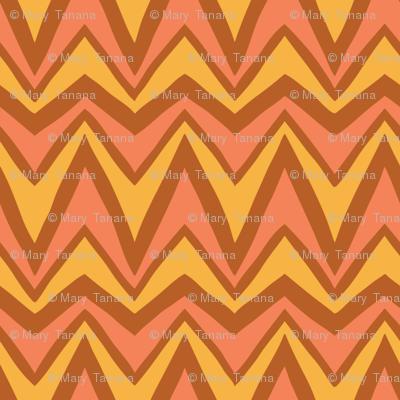 Folky Dokey-Bargello in Rust-Believe colorway