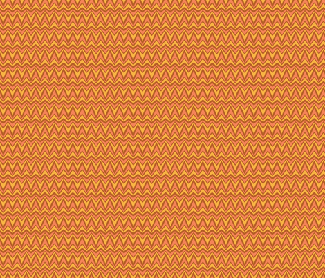 Folky Dokey-Bargello in Rust-Believe colorway fabric by groovity on Spoonflower - custom fabric