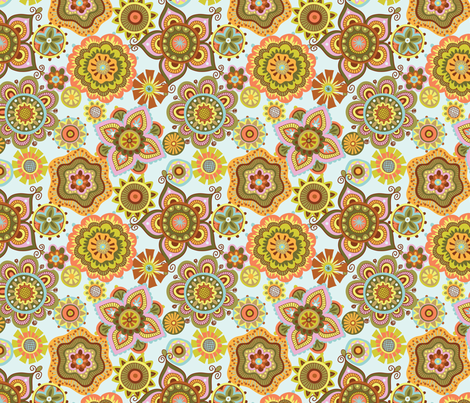 Folky Dokey-Boho-Believe colorway fabric by groovity on Spoonflower - custom fabric
