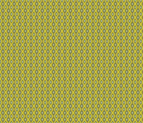 Folky Dokey-Golly Ogee in Moss-Believe colorway fabric by groovity on Spoonflower - custom fabric