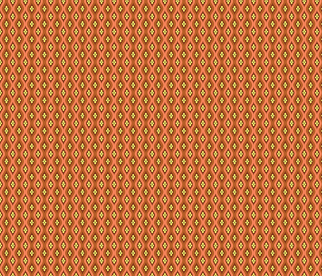 Folky Dokey-Golly Ogee in Rust-Believe colorway fabric by groovity on Spoonflower - custom fabric
