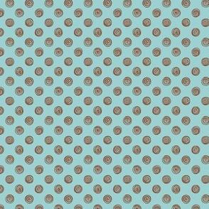 Folky Dokey-Spirals in Air-Believe colorway