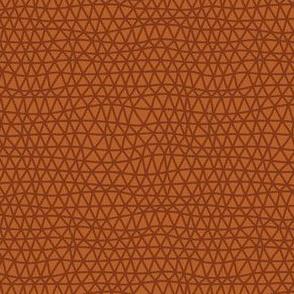 Folky Dokey-Woven in Rust-Believe colorway