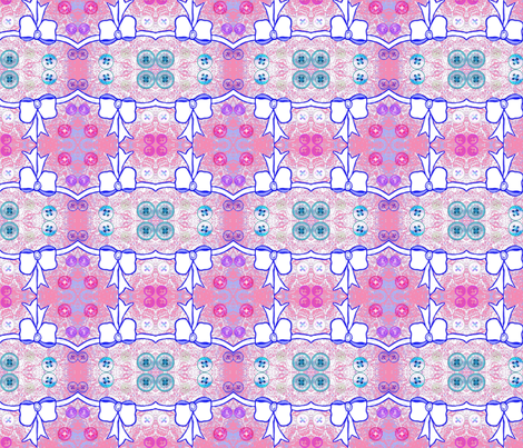 Buttons 'n' Bows fabric by robin_rice on Spoonflower - custom fabric