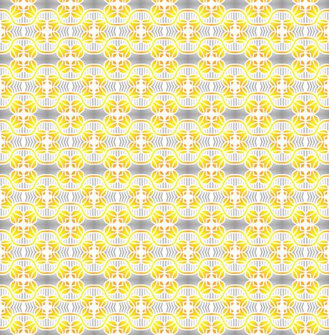 Golden Tulips on Silver fabric by eve_catt_art on Spoonflower - custom fabric