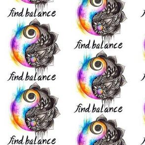 Find Balance yin and yang