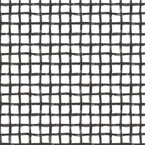 Hand Drawn Grid black&White