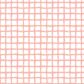 Hand Drawn Grid Peach